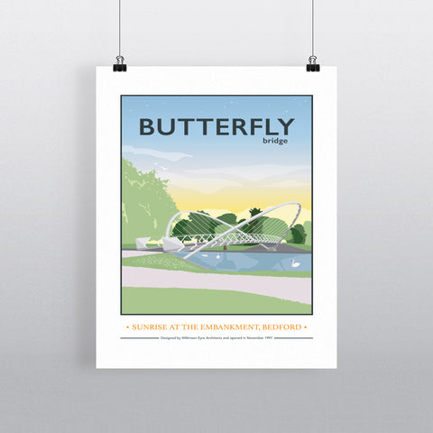 The Butterfly Bridge, Bedford 11x14 Print