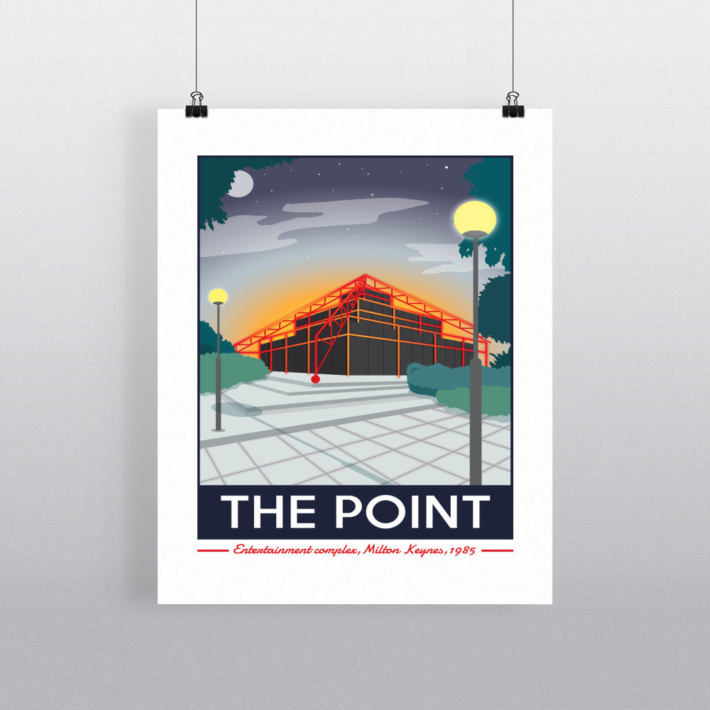 The Point, Milton Keynes, Buckinghamshire 11x14 Print