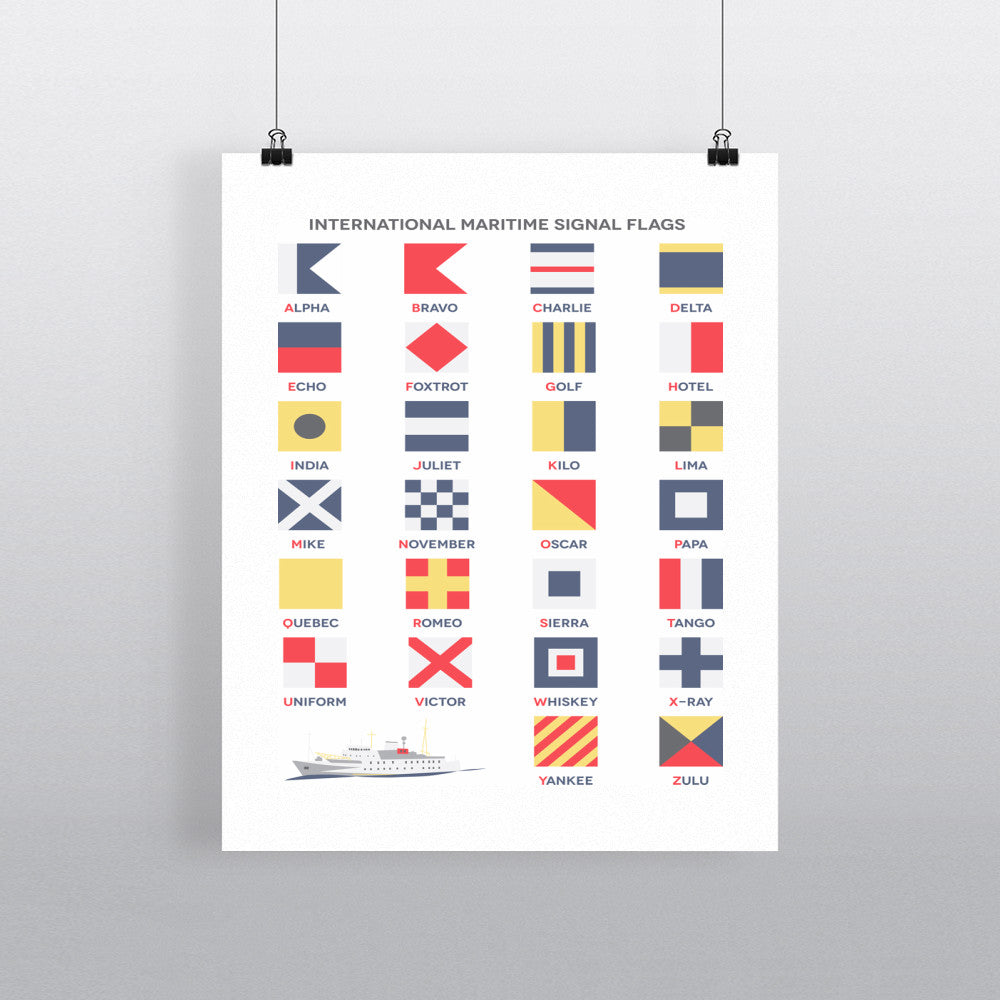The International Maritime Signal Flags, 11x14 Print
