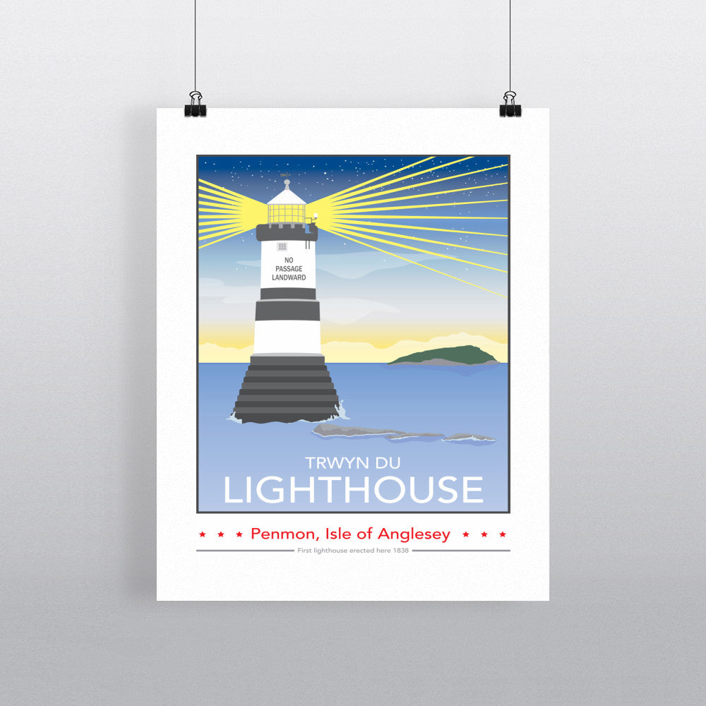 Trwyn Du Lighthouse, Isle of Anglesey 11x14 Print