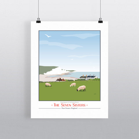 The Seven Sisters, East Sussex 11x14 Print