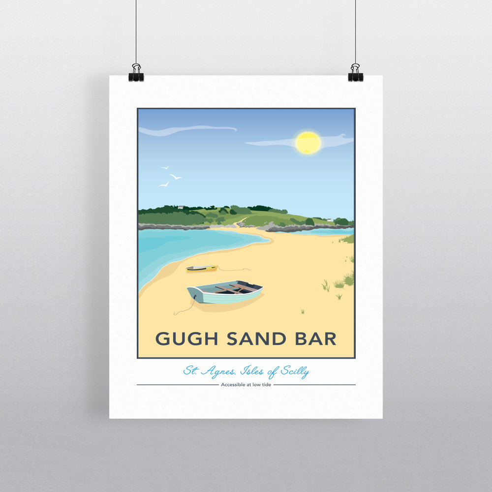 Gugh Sand Bar, St Agnes, Isles of Scilly 11x14 Print