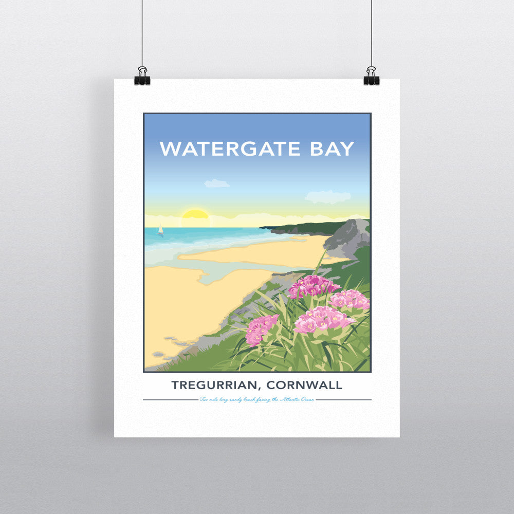 Watergate Bay, Tregurrian, Cornwall 11x14 Print