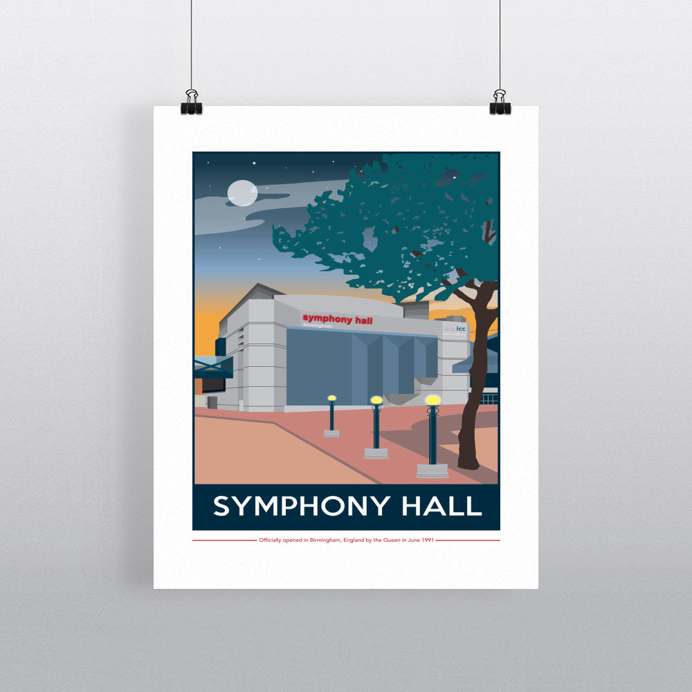 The Symphony Hall, Birmingham 11x14 Print