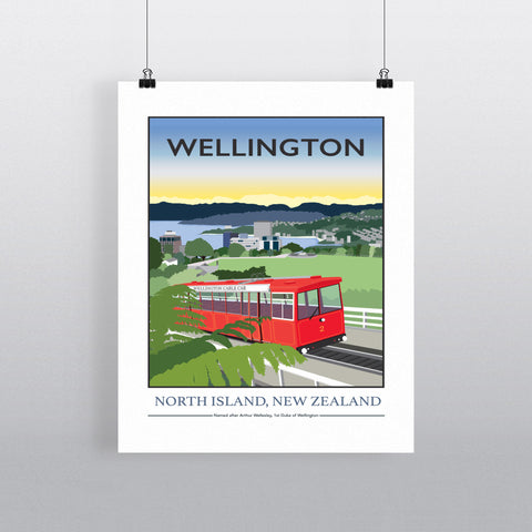 Wellington, North Island, New Zealand 11x14 Print