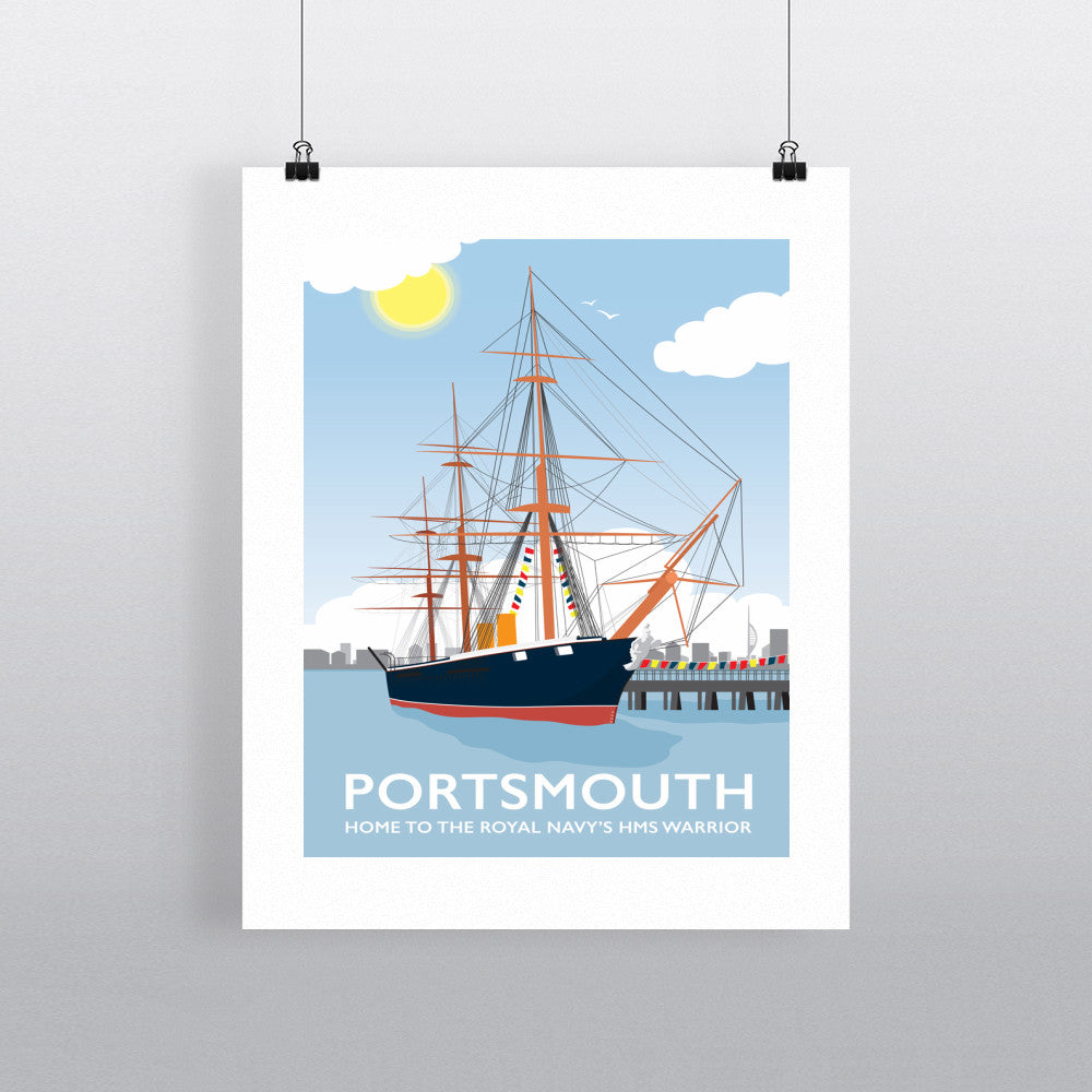HMS Warrior, Portsmouth 11x14 Print