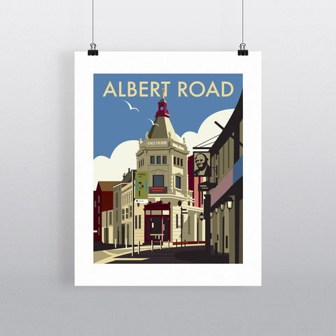 "THOMPSON002: Albert Road, Portsmouth. 24"" x 32"" Matte Mounted Print"
