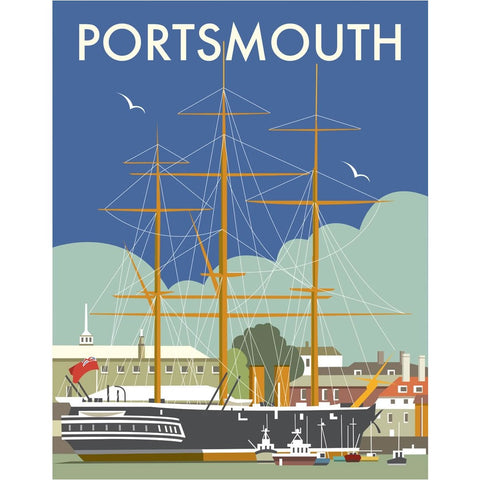 "THOMPSON004: HMS Warrior, Portsmouth. 24"" x 32"" Matte Mounted Print"