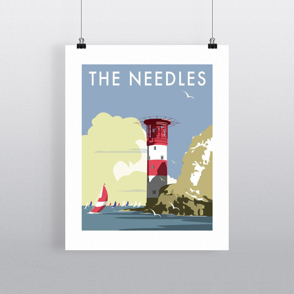 "THOMPSON005: The Needles, Isle of Wight. 24"" x 32"" Matte Mounted Print"