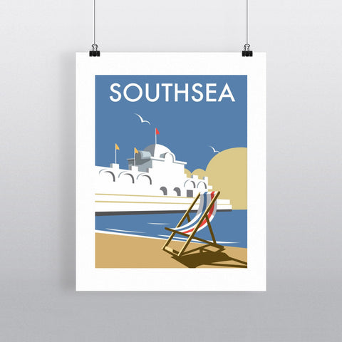 "THOMPSON007: Southsea Pier, Portsmouth. 24"" x 32"" Matte Mounted Print"