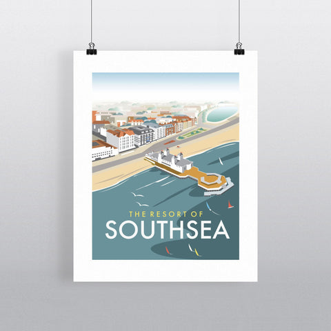 "THOMPSON008: Southsea, Portsmouth, from the air. 24"" x 32"" Matte Mounted Print"