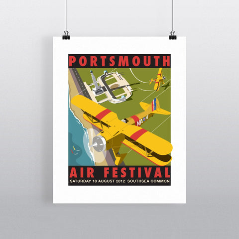 "THOMPSON011: Portsmouth Air Festival. 24"" x 32"" Matte Mounted Print"