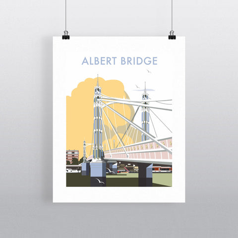 "THOMPSON012: Albert Bridge, London. 24"" x 32"" Matte Mounted Print"