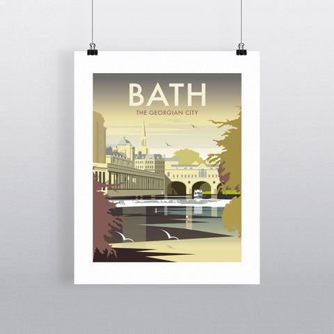 "THOMPSON014: Bath, The Georgian City. 24"" x 32"" Matte Mounted Print"