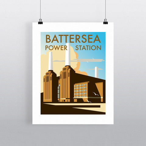 "THOMPSON015: Battersea Power Station. 24"" x 32"" Matte Mounted Print"