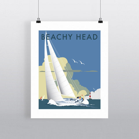 "THOMPSON018: Sailing at Beachy Head. 24"" x 32"" Matte Mounted Print"
