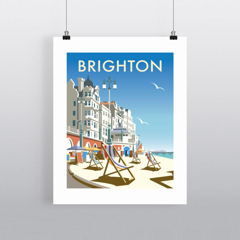 "THOMPSON021: Brighton Beach. 24"" x 32"" Matte Mounted Print"
