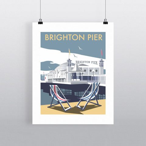 "THOMPSON023: Brighton Pier. 24"" x 32"" Matte Mounted Print"