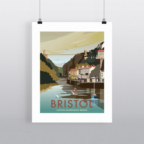 "THOMPSON024: Clifton Suspension Bridge, Bristol. 24"" x 32"" Matte Mounted Print"