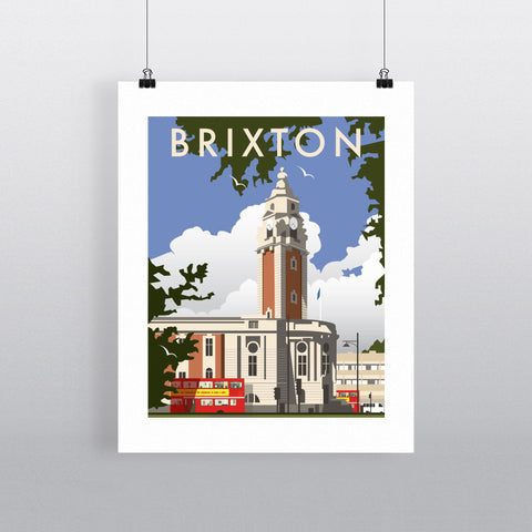 "THOMPSON025: Brixton, London. 24"" x 32"" Matte Mounted Print"