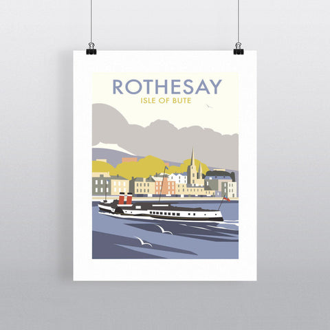 "THOMPSON028: Rothesay, Isle of Bute. 24"" x 32"" Matte Mounted Print"