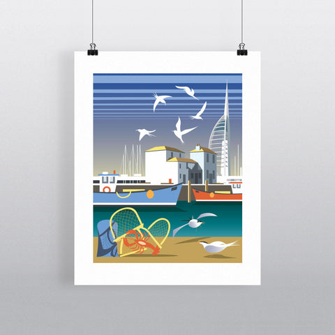 "THOMPSON029: The Camber, Portsmouth. 24"" x 32"" Matte Mounted Print"