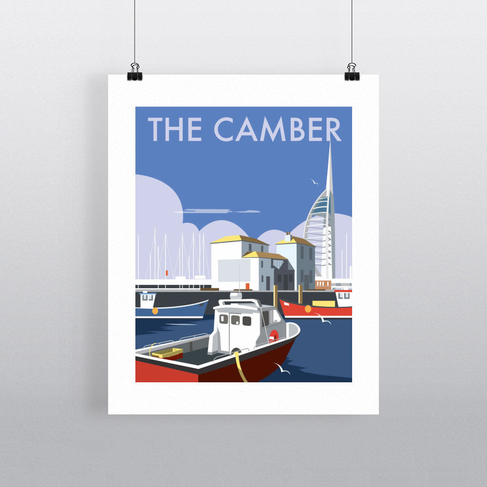 "THOMPSON030: The Camber, Portsmouth. 24"" x 32"" Matte Mounted Print"
