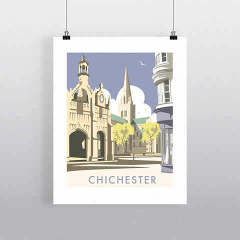 "THOMPSON031: Chichester Cathedral. 24"" x 32"" Matte Mounted Print"