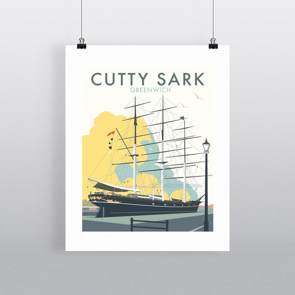 "THOMPSON033: The Cutty Sark, Greenwich, London. 24"" x 32"" Matte Mounted Print"
