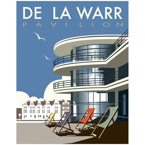 "THOMPSON034: The De La Warr Pavilion, Bexhill, East Sussex. 24"" x 32"" Matte Mounted Print"
