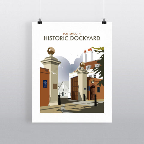 "THOMPSON035: Portsmouth Historic Dockyard. 24"" x 32"" Matte Mounted Print"