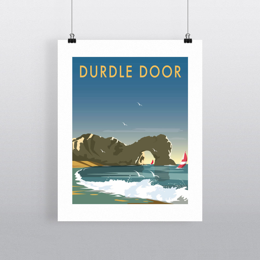 "THOMPSON036: Durdle Door, Dorset. 24"" x 32"" Matte Mounted Print"