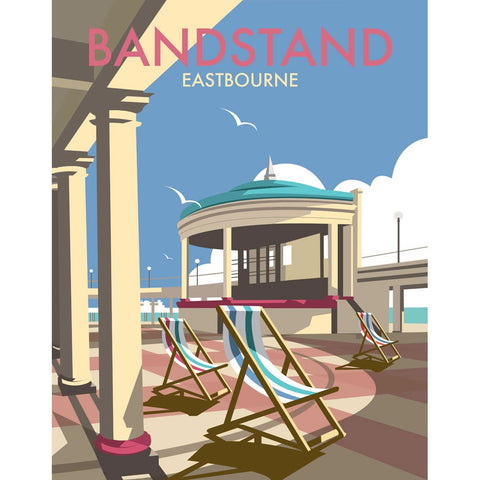 "THOMPSON037: Eastbourne Bandstand. 24"" x 32"" Matte Mounted Print"