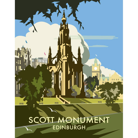 "THOMPSON038: Scott Monument, Edinburgh. 24"" x 32"" Matte Mounted Print"
