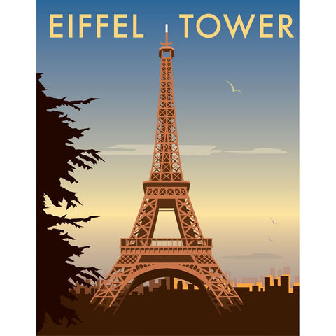 "THOMPSON040: The Eiffel Tower, Paris. 24"" x 32"" Matte Mounted Print"