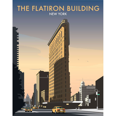 "THOMPSON041: The Flatiron Building, New York. 24"" x 32"" Matte Mounted Print"