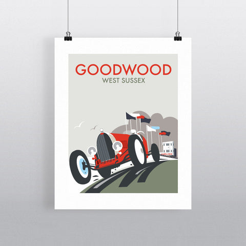 "THOMPSON043: Goodwood, West Sussex. 24"" x 32"" Matte Mounted Print"