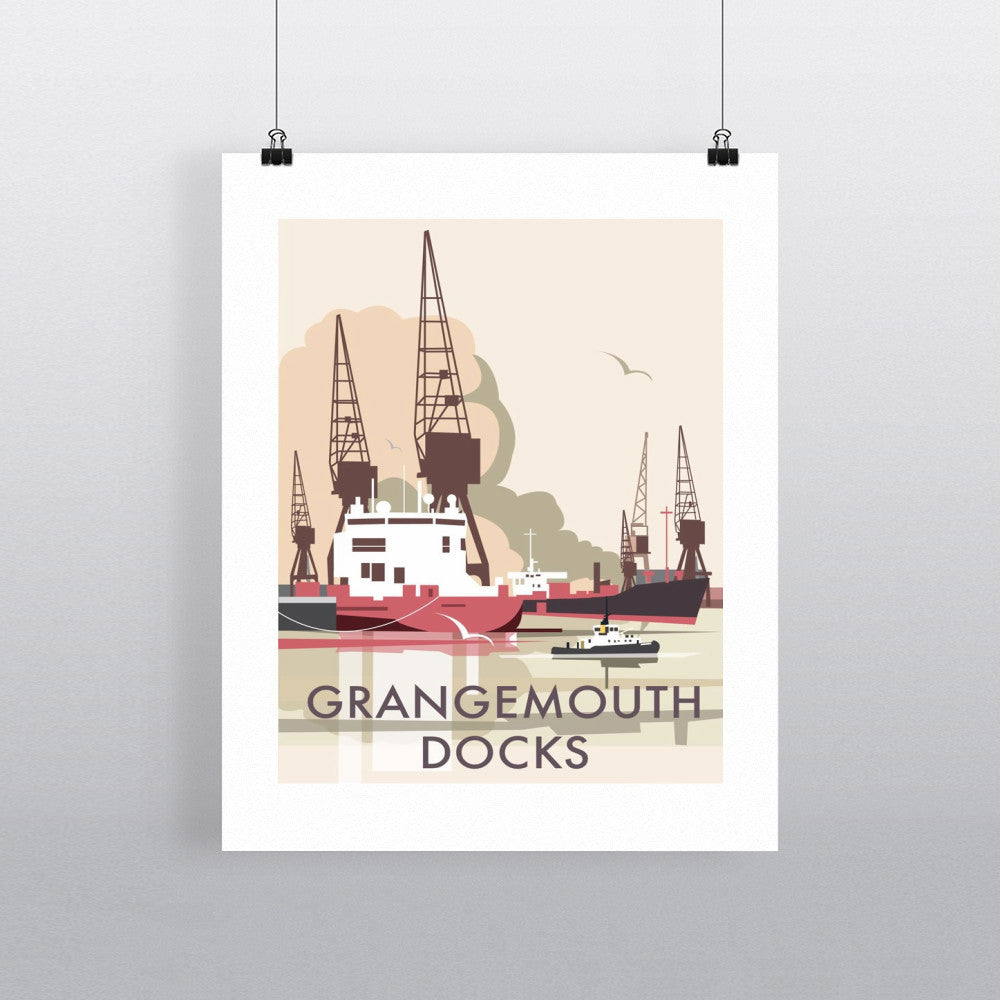 "THOMPSON044: Grangemouth Docks 24"" x 32"" Matte Mounted Print"