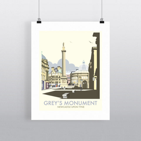 "THOMPSON045: Grey's Monument, Newcastle Upon Tyne. 24"" x 32"" Matte Mounted Print"
