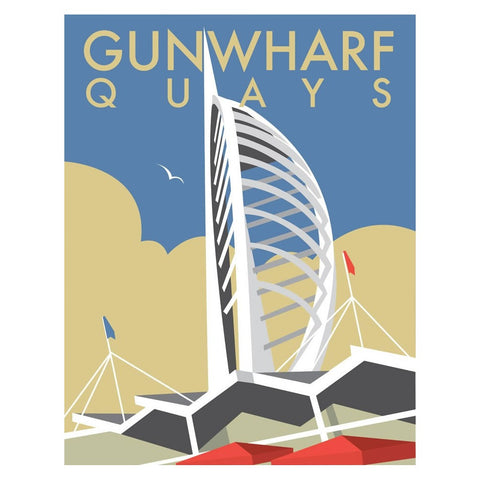 "THOMPSON047: Gunwharf Quays, Portsmouth. 24"" x 32"" Matte Mounted Print"