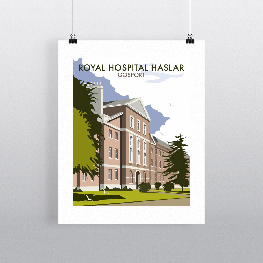 "THOMPSON048: Royal Hospital Haslar, Gosport. 24"" x 32"" Matte Mounted Print"