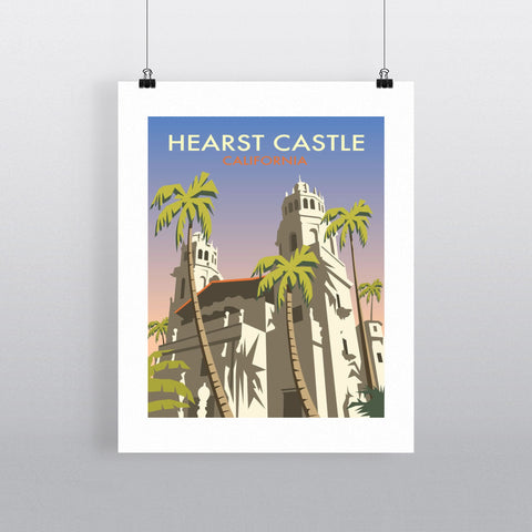 "THOMPSON049: Hearst Castle, California. 24"" x 32"" Matte Mounted Print"