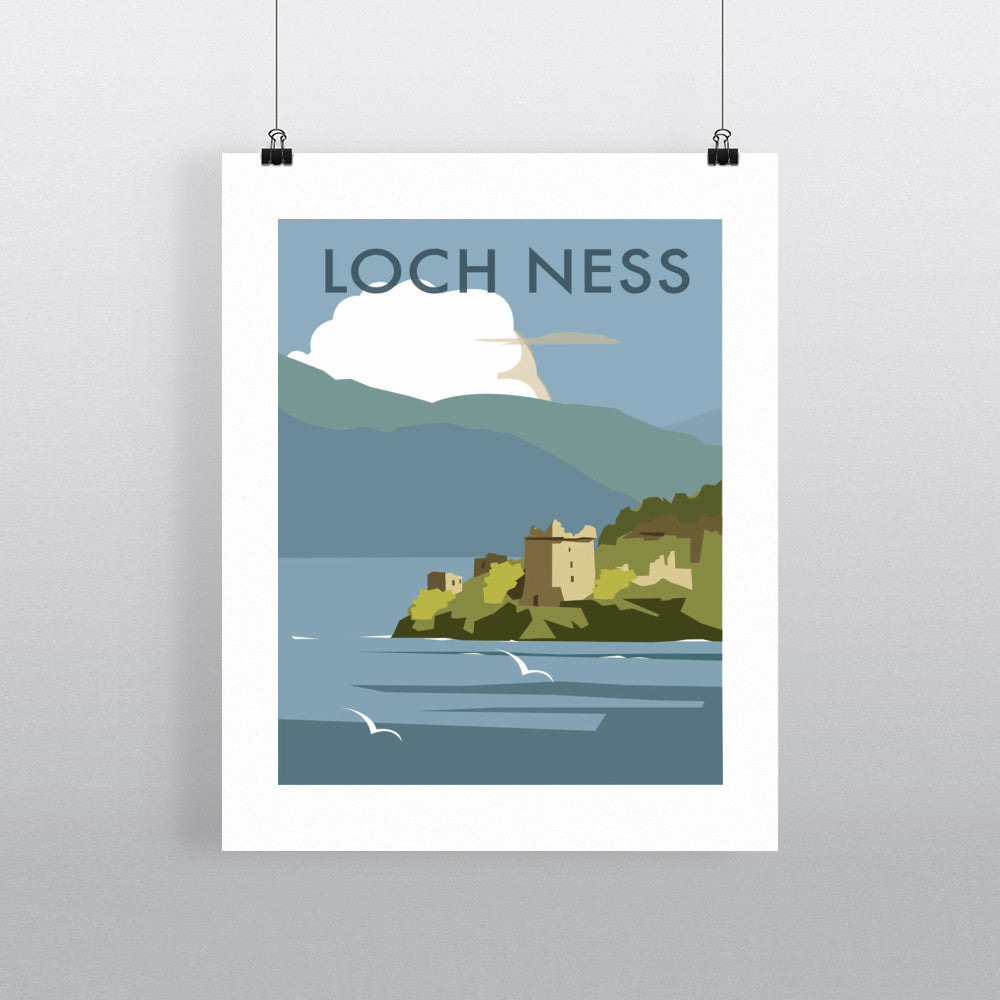 "THOMPSON051: Loch Ness. 24"" x 32"" Matte Mounted Print"