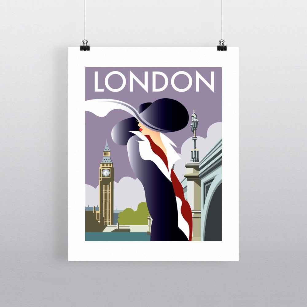 "THOMPSON052: London. 24"" x 32"" Matte Mounted Print"