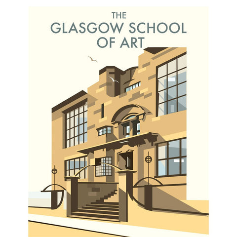 "THOMPSON053: The Glasgow School of Art, Mackintosh Building. 24"" x 32"" Matte Mounted Print"