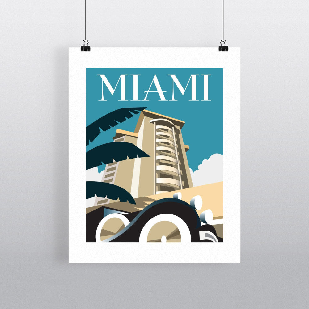 "THOMPSON054: Miami. 24"" x 32"" Matte Mounted Print"