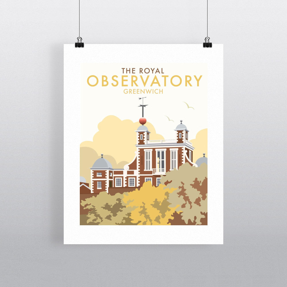 "THOMPSON056: The Royal Observatory, Greenwich. 24"" x 32"" Matte Mounted Print"