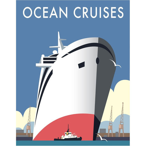 "THOMPSON057: Ocean Cruises. 24"" x 32"" Matte Mounted Print"