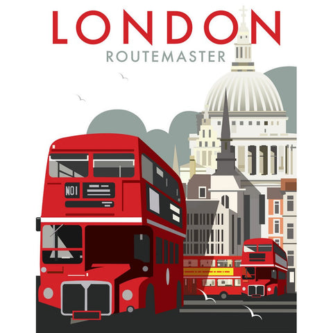 "THOMPSON062: London Routemaster. 24"" x 32"" Matte Mounted Print"