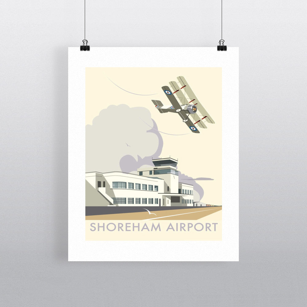 "THOMPSON067: Shoreham Airport, West Sussex. 24"" x 32"" Matte Mounted Print"